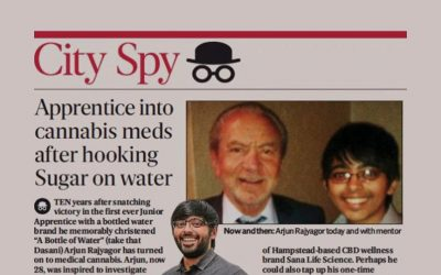 Evening Standard – Apprentice into cannabis meds after hooking Sugar on water